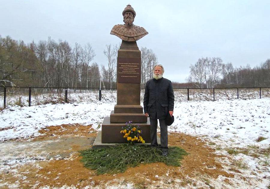ВАлександровском районе поставили монумент Ивану Грозному