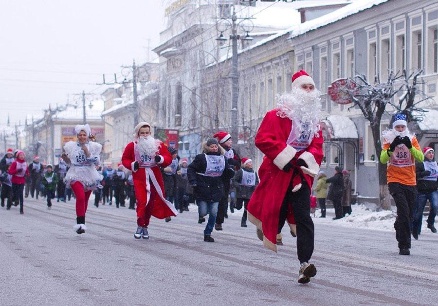 Забег Дедов Морозов вновь состоится воВладимире