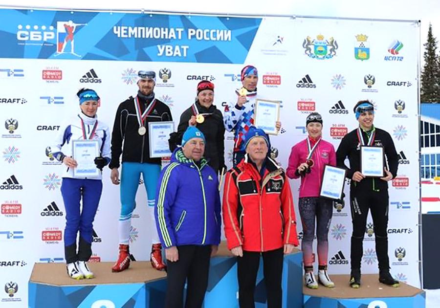 Слепов иЮрлова сражаются замедали чемпионата Российской Федерации побиатлону