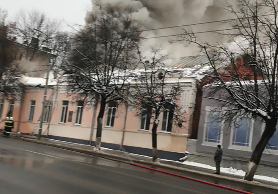ВоВладимире едва незагорелась школа бокса