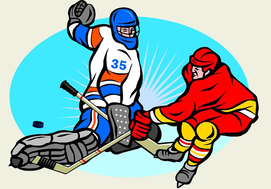 Смешные картинки хоккеистов мультяшные, открытка