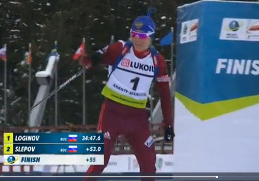 Алексей Слепов одержал победу спринт наКубке IBU вХанты-Мансийске