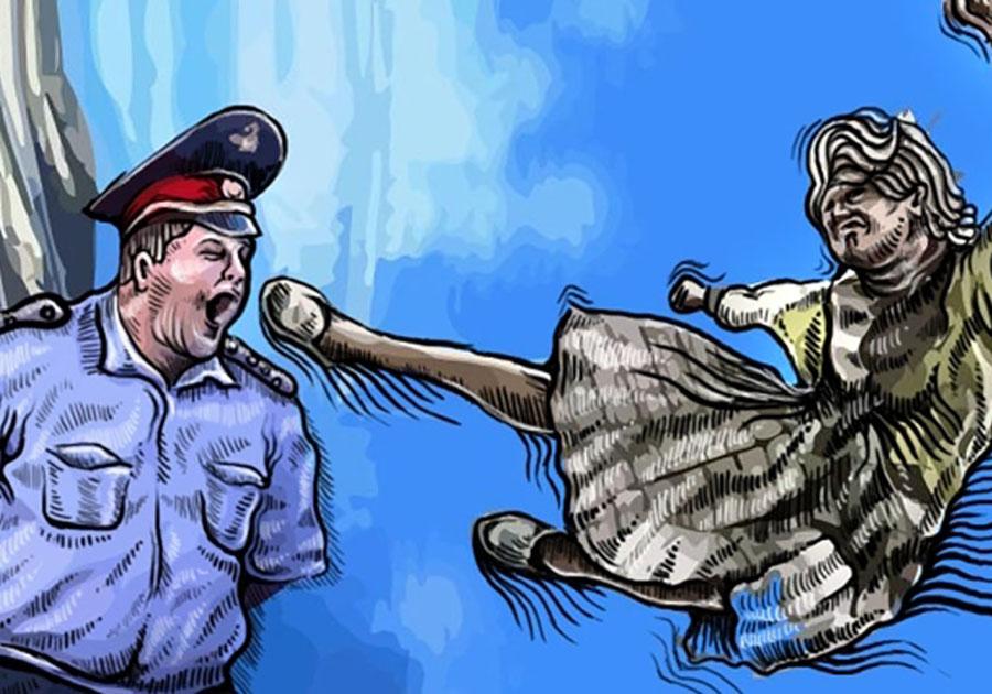 Жительница Вязников избила троих полицейских