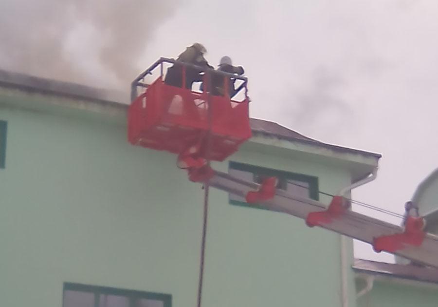 Пожар нафармацевтическом предприятии вПетушинском районе