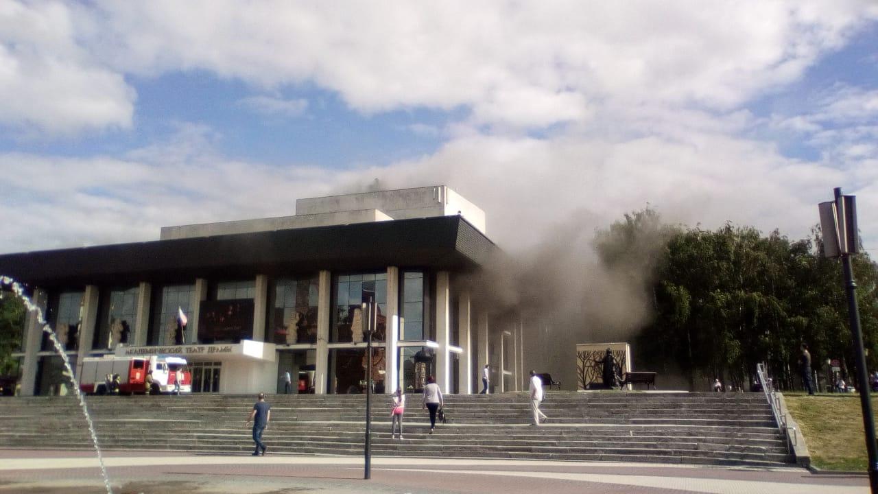 Пожар в драмтеатре не повредил несущие конструкции, что облегчит восстановление