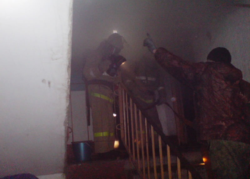 ВСтрунино напожаре умер мужчина