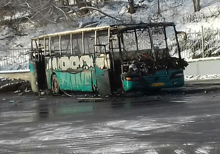 ВоВладимире наавтовокзале дотла сгорел автобус